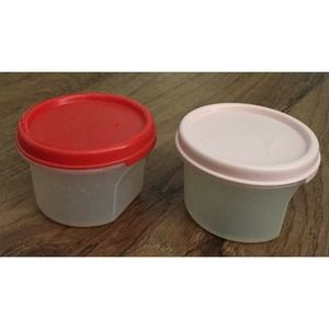 Tupperware Modular Mate 7 Oz Containers Red & Pink